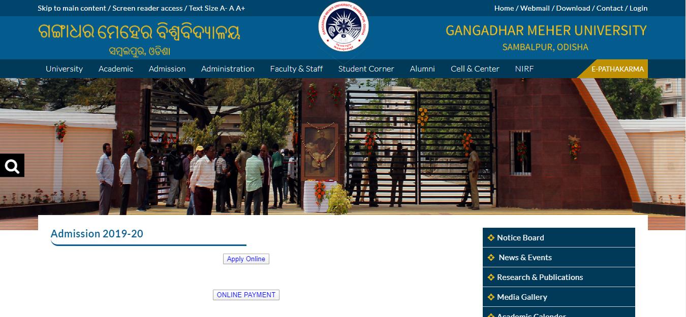 Gmu 2022 Calendar.Gangadhar Meher University Admission 2021 22 Gmu Application Form Sambalpur